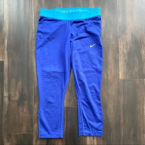Nike Dri-fit Capri Leggings Run Fast Live Fearless